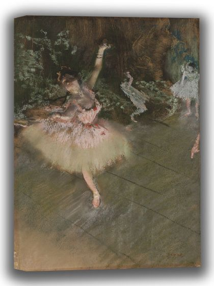 Degas, Edgar: The Star. Fine Art Canvas. Sizes: A4/A3/A2/A1 (003770)